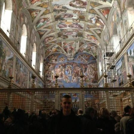 Me inside the Sistine Chapel