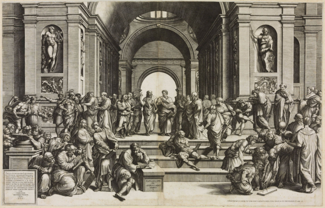 Ghisi (engraver) and Cock (publisher) after Raphael, School of Athens