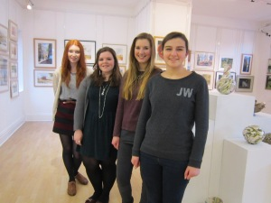 The Young Curators: Alice Watkins, Olivia Weightman, Hannah Lawson, Polly Adams-Felton