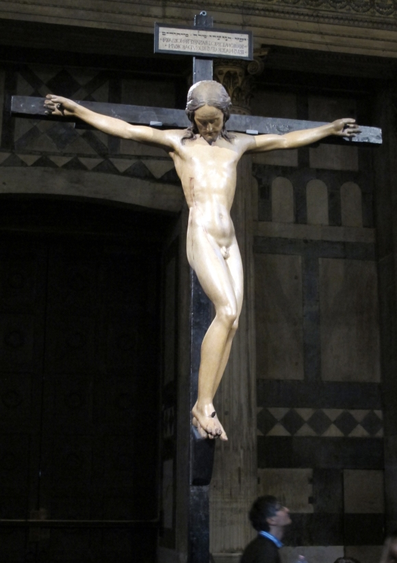 Michelangelo, Crucifix, about 1493, polychromed wood, S Spirito, Florence