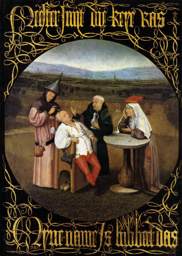 Bosch (?), Cure of Folly; Prado Museum