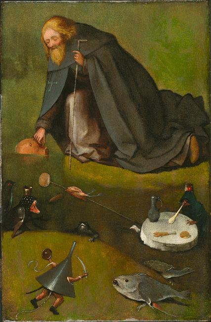 Bosch (?), Temptation of S. Anthony, c.1500-10, oil on panel, Nelson-Atkins Museum of Art in Kansas City, Missouri (credit: Rik Klein Gotink/Image processing by Robert G. Erdmann for the Bosch Research and Conservation Project)